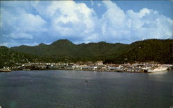 Castries Harbor Postcard