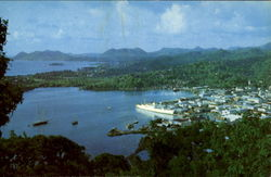 Town And Harbor Of Castries Postcard