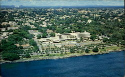 Aerial View Of The Caribbean Sea And Jaragua Hotel Postcard