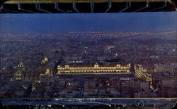 Night View Of The Zocalo Postcard