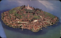 Air View Of Janitzio Island Postcard