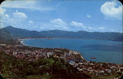 Partial View Of The Beautiful Acapulco Bay Postcard