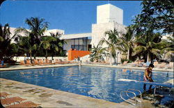 The Swimming Pool At The El Presidente Hotel Postcard