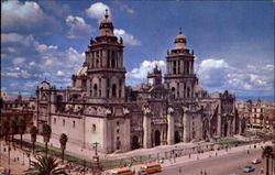 The Largest Cathedral In Mexico Postcard