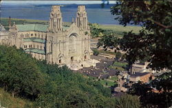 The Basilica Of The Immaculate Conception And The Plaza Postcard