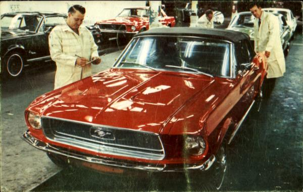 Dearborn Assembly Plant Ford Mustang 1968 Cars