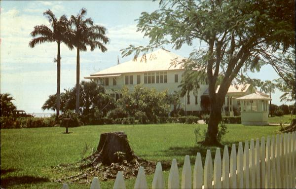 Government House In Belize City Central America