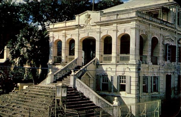 Majestic Entrance To Government House, Christianstead St. Croix Virgin Islands