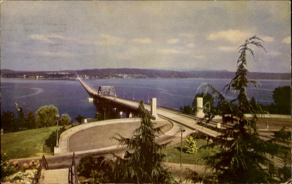 Lake Washington Pontoon Bridge Seattle