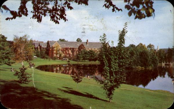Section Of Campus Across Mirror Lake, The University of Connecticut Storrs