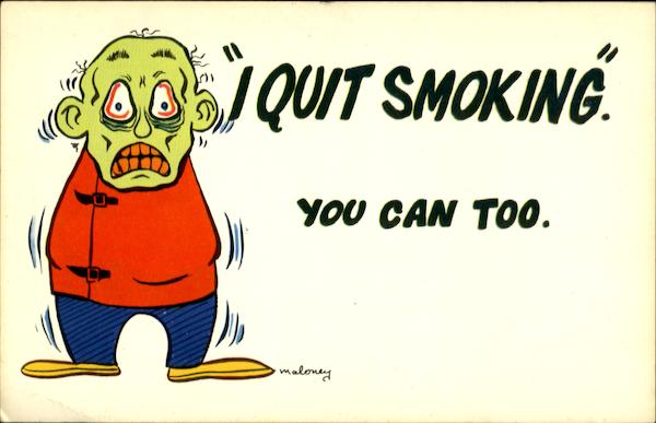 I Quit Smoking You Can Too Comic, Funny