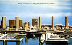 Model Of Litho City And The United World Center