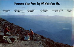 Panorama View From Top Of Whiteface Mt Postcard