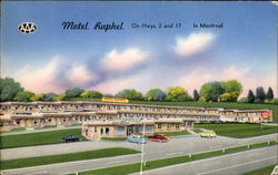 Motel Raphel, Hwys 2 and 17 Postcard