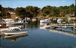 A Quiet Morning Scene Of Perkins Cove