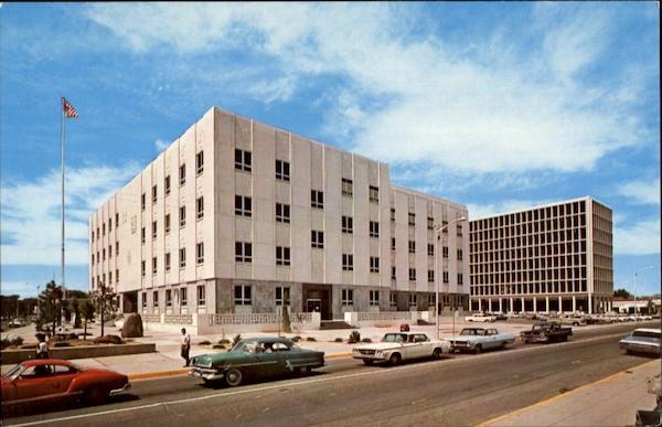 Bernilillo County Courthouse, 4th and Tijeras N. W. Albuquerque New Mexico