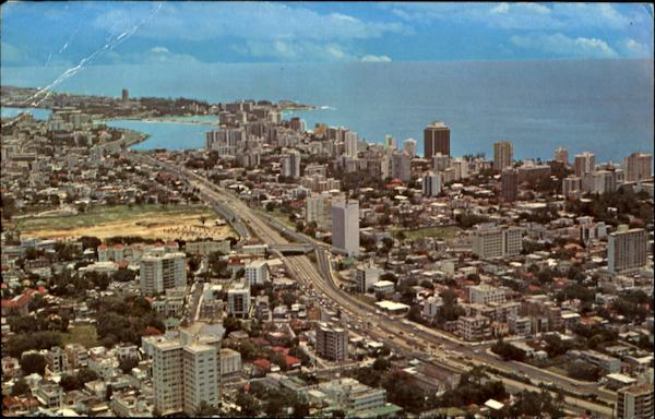 Air View Of The City Of San Juan Puerto Rico Caribbean Islands