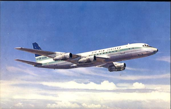 Air New Zealand Dc-8 Jetliners Aircraft