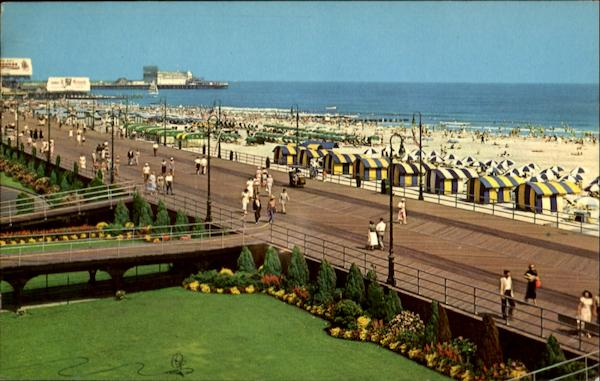 A Beautiful View Of The Board Walk Beach Atlantic City New Jersey