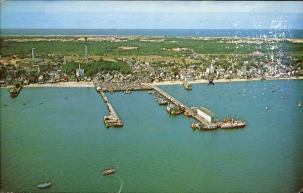 Aerial View Of Provincetown Cape Cod Massachusetts