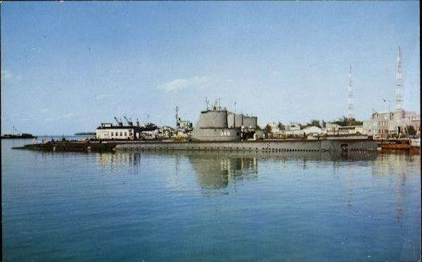 Submarines At U. S. Naval Station Key West Florida