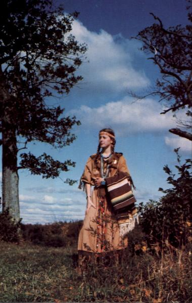 Indian Maiden Native Americana