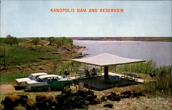 Kanopolis Dam And Reservoir Scenic Kansas