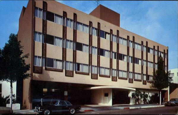Beverly Crest Hotel, Spalding Drive at Wilshire Beverly Hills California