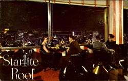 Night View Of San Francisco From The Starlite Roof Postcard
