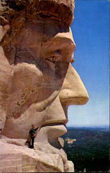 President Lincoln's Face, Mt. Rushmore National Memorial