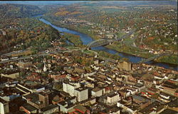 Aerial View Of Easton, Northampton County
