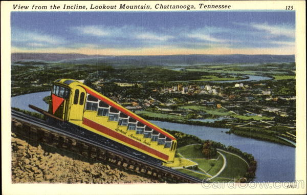 View From The Incline Chattanooga Tennessee