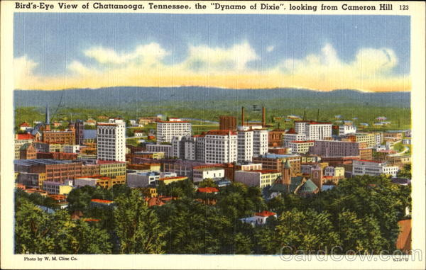 Bird's Eye View Of Chattanooga Tennessee