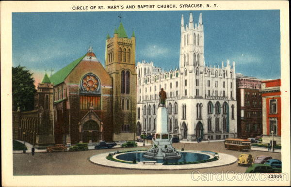 Circle Of St. Mary's And Baptist Church Syracuse New York