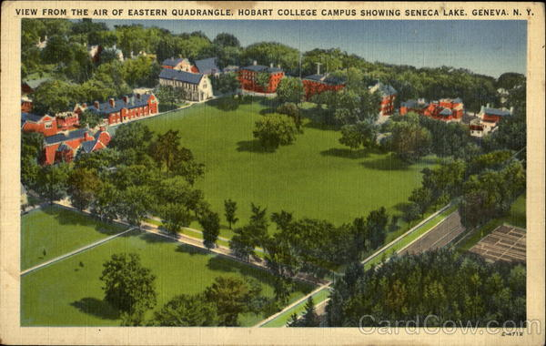 View From The Air Of Eastern Quadrangle, Hobart College Campus Geneva New York