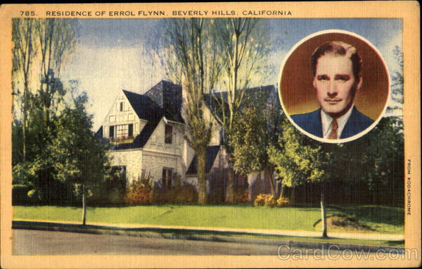 Residence Of Errol Flynn Beverly Hills California