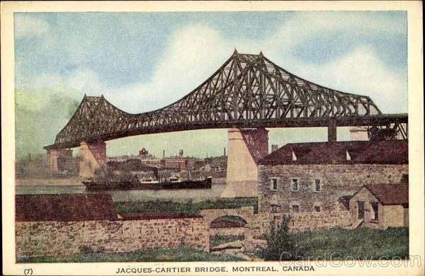Jacques-Cartier Bridge Montreal Canada Quebec