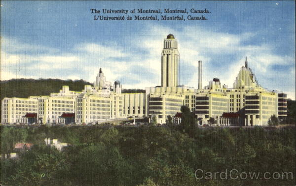 The University Of Montreal Canada Quebec