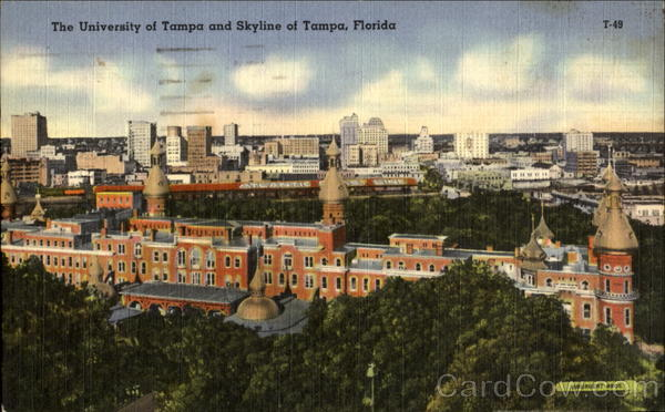 The University Of Tampa And Skyline Of Tampa Florida