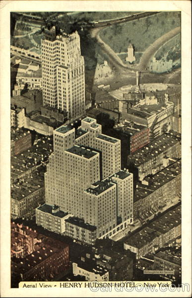 Aerial View Henry Hudson Hotel, 353 West 57th Street New York City