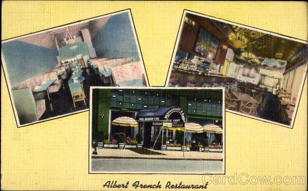 Albert French Restaurant, 65 University Place - Cor. 11th Street New York City