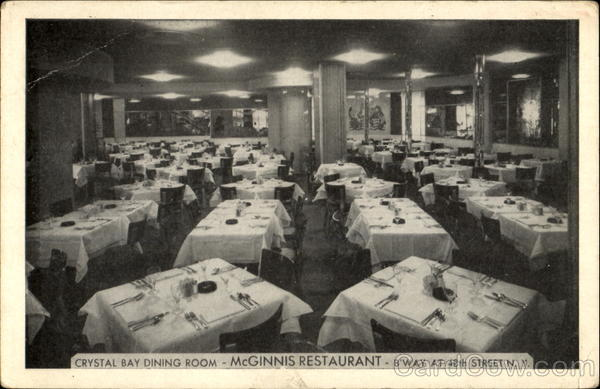 Crystal Bay Dining Room McGinnis Restaurant, 48th Street New York City