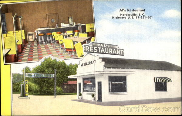 Al's Restaurant, Highways U. S. 17-321-601 Hardeeville South Carolina