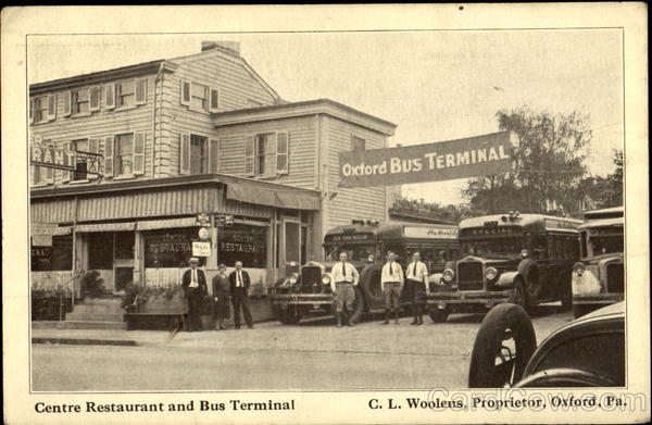 Centre Restaurant And Bus Terminal Oxford Pennsylvania