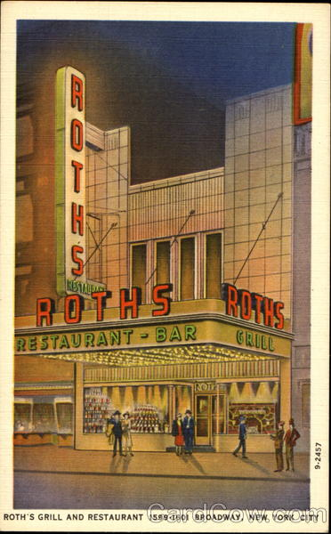Roth's Grill And Restaurant, 1599-1601 Broadway New York City