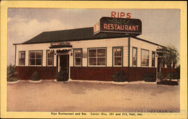 Rips Restaurant And Bar, Corner Hwy. 301 And 214 Hall Maryland