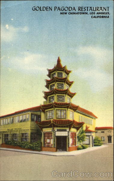 Golden Pagoda Restaurant, New Chinatown Los Angeles California