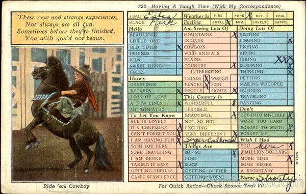 Ride Em Cowboy Correspondence Cards