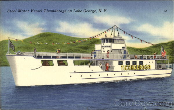 Steel Motor Vessel Ticonderoga On Lake George New York