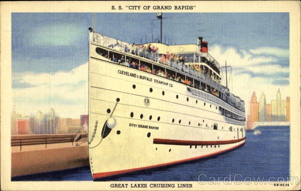 S. S. City Of Grand Rapids Great Lakes Cruising Liner
